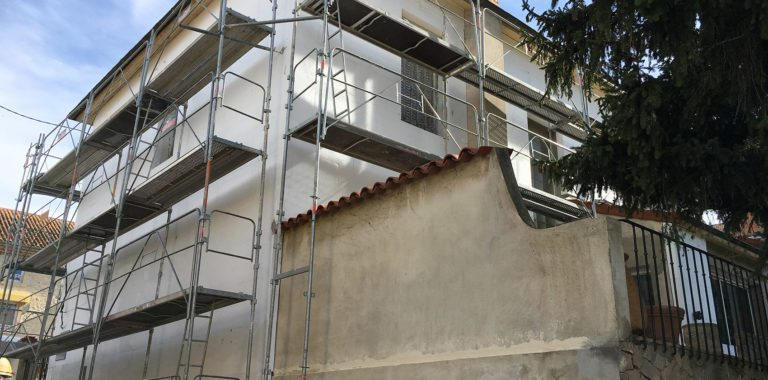 Isolation thermique extérieure villa